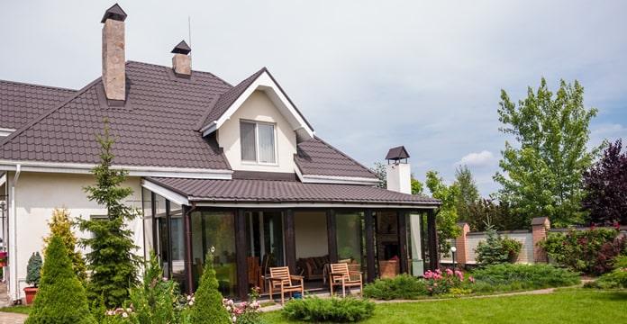 image montrant une maison agrandie par une véranda