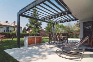 Pergola toiture bioclimatique