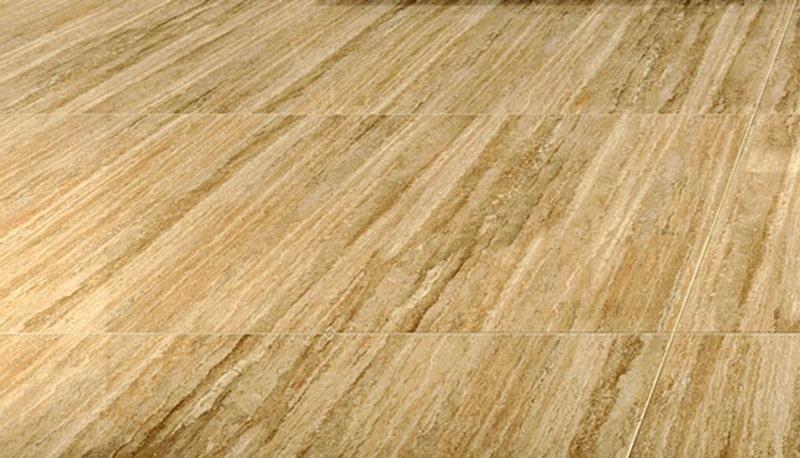 aménagement véranda et carrelage effet bois