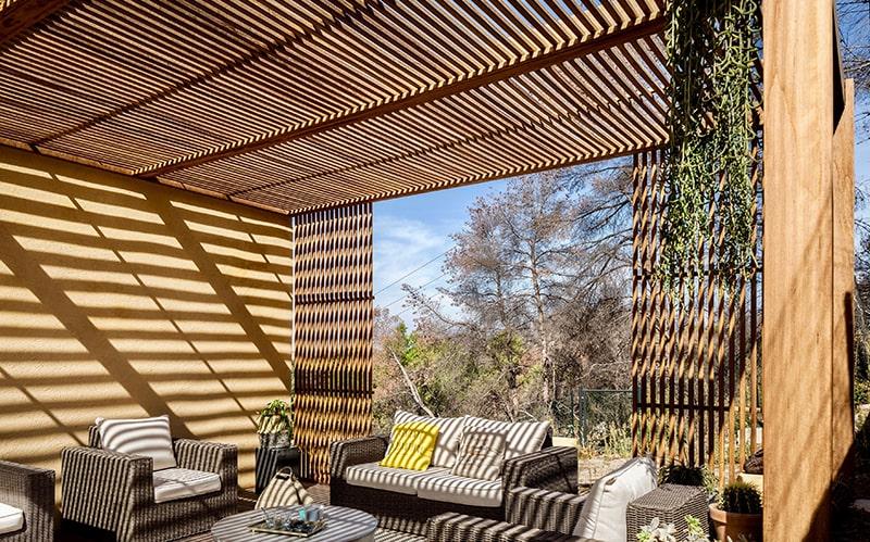 toiture de terrasse en bois