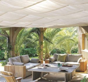 toiture de terrasse en toile