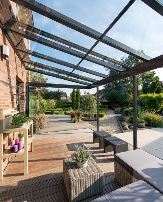 toiture de terrasse- verre