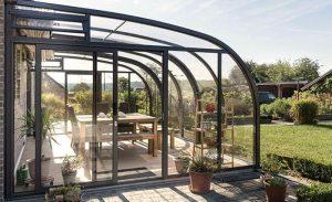 véranda terrasse tout en verre
